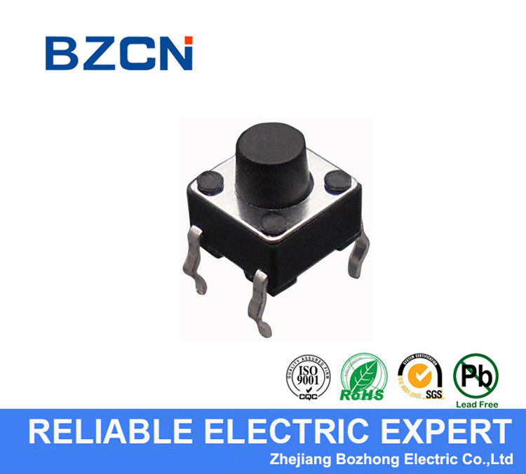 Normally Closed Miniature Tactile Switch , Momentary Tactile Switch 12v DIP Type