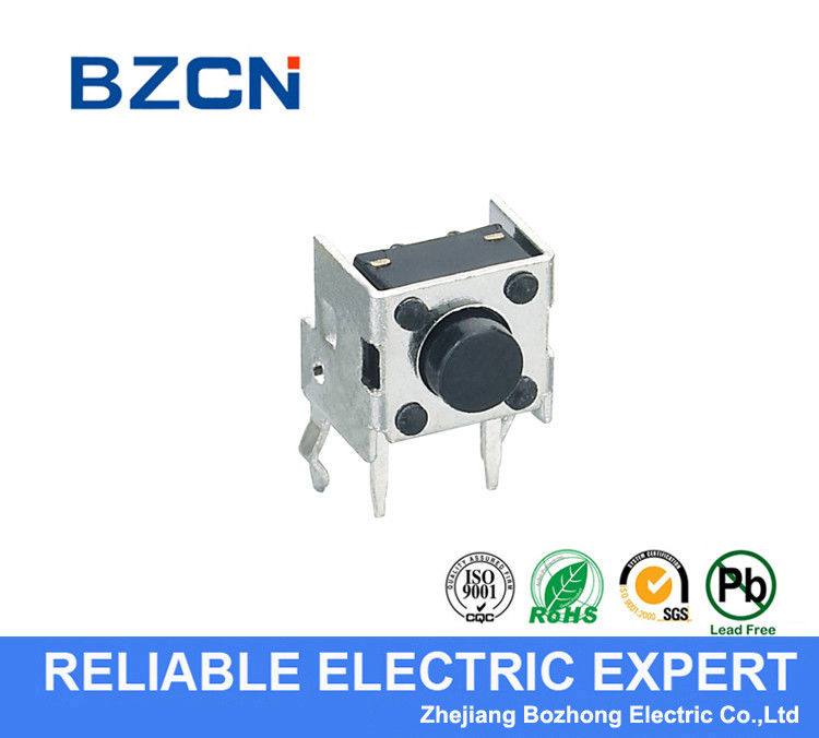 Through Hole Terminal Right Angle Tactile Switch Horizontal Push Metal Bracket