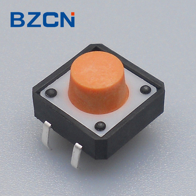 Orange Button Blue House Silent Tactile Switch 160 ± 50 , 260 ± 50 Gram Force Options