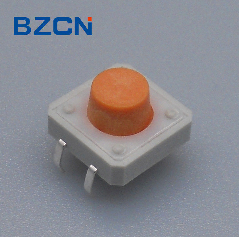12mm 4 Pin Tactile Switch Surface Mount Terminal With White Plastic Cover