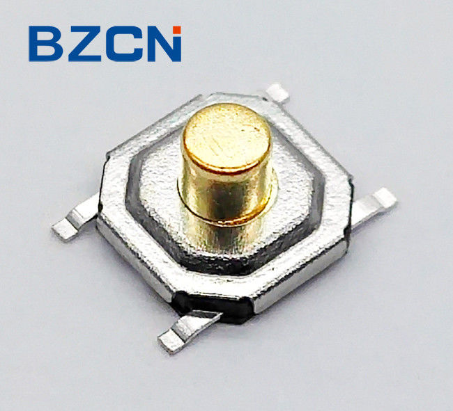 Low Profile Sealed Tactile Switch , Micro Push Button Switch 5.2 Mm X 5.2 Mm